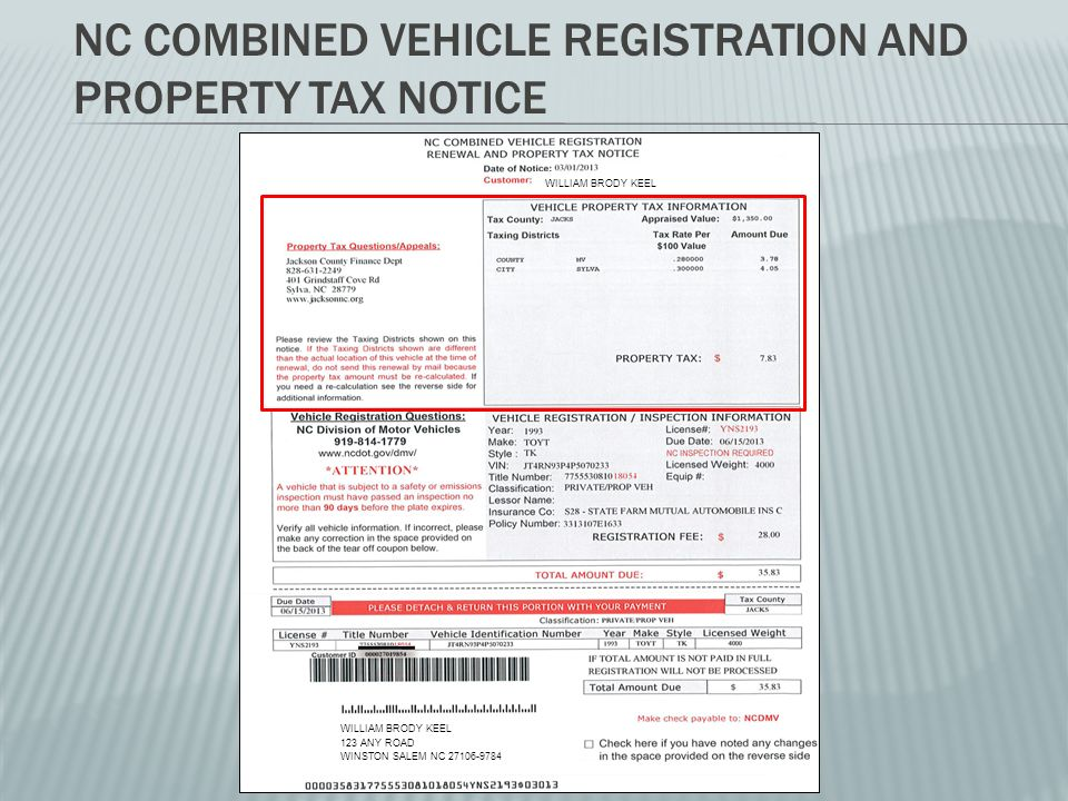 Registered Motor Vehicle Taxes