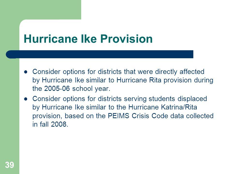 Hurricane Ike Provision