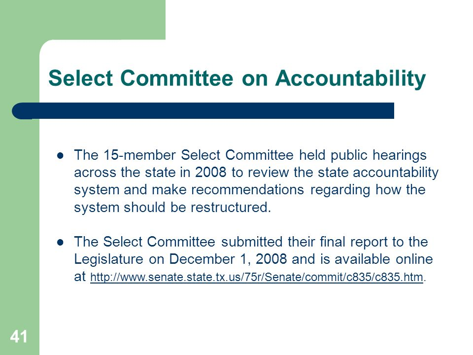 Select Committee on Accountability