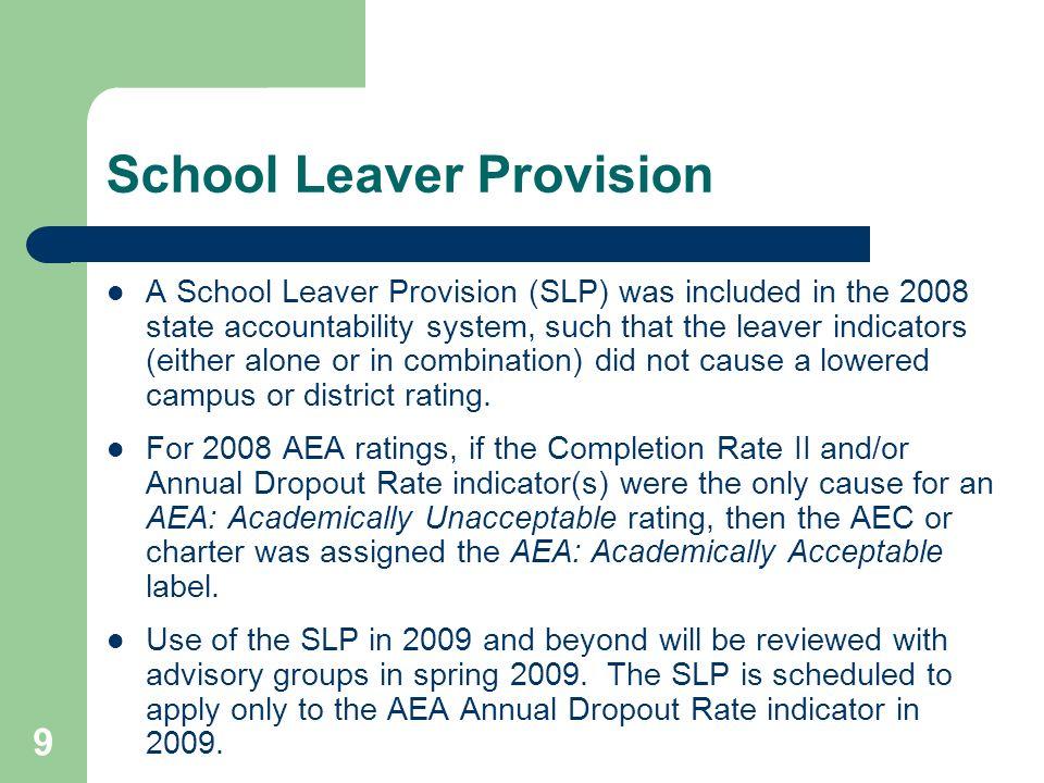 School Leaver Provision