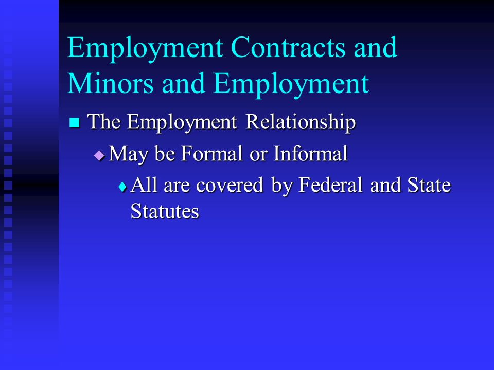 Chapter  Employment Contracts And Minors And Employment  Ppt