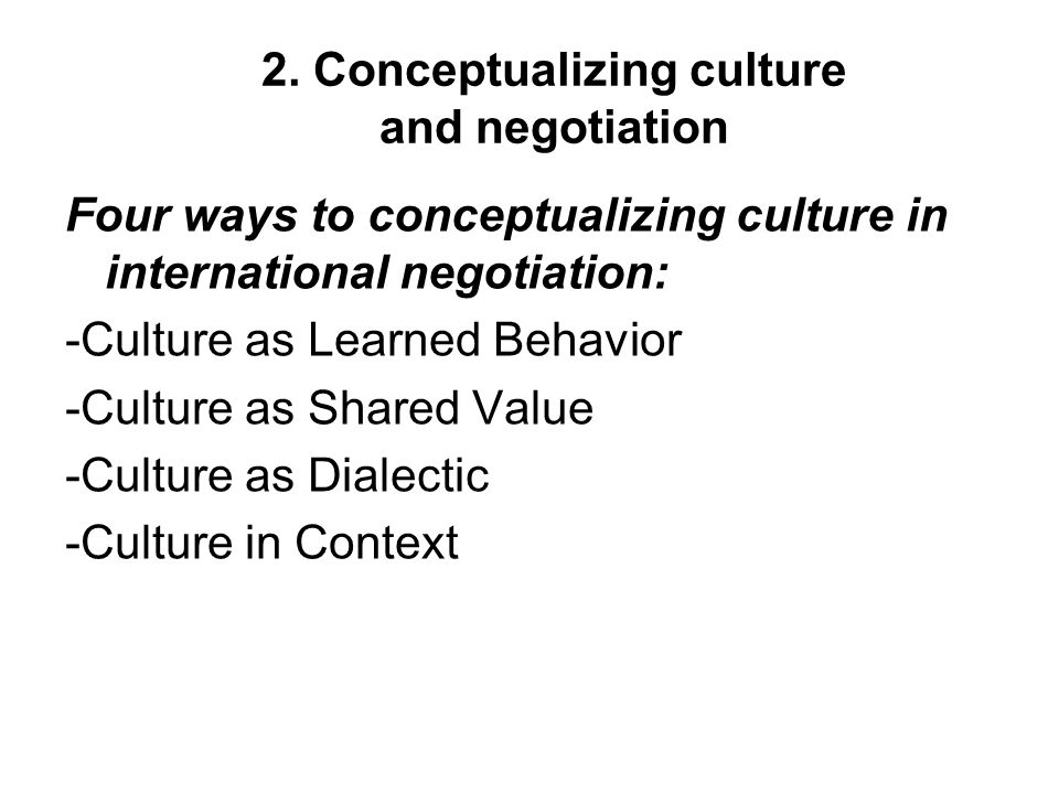 the effects of culture on the process of international negotiation essay Essay on cross-cultural psychology  china and cross cultural negotiation essay  communication as a cross-cultural challenge for international management essay.