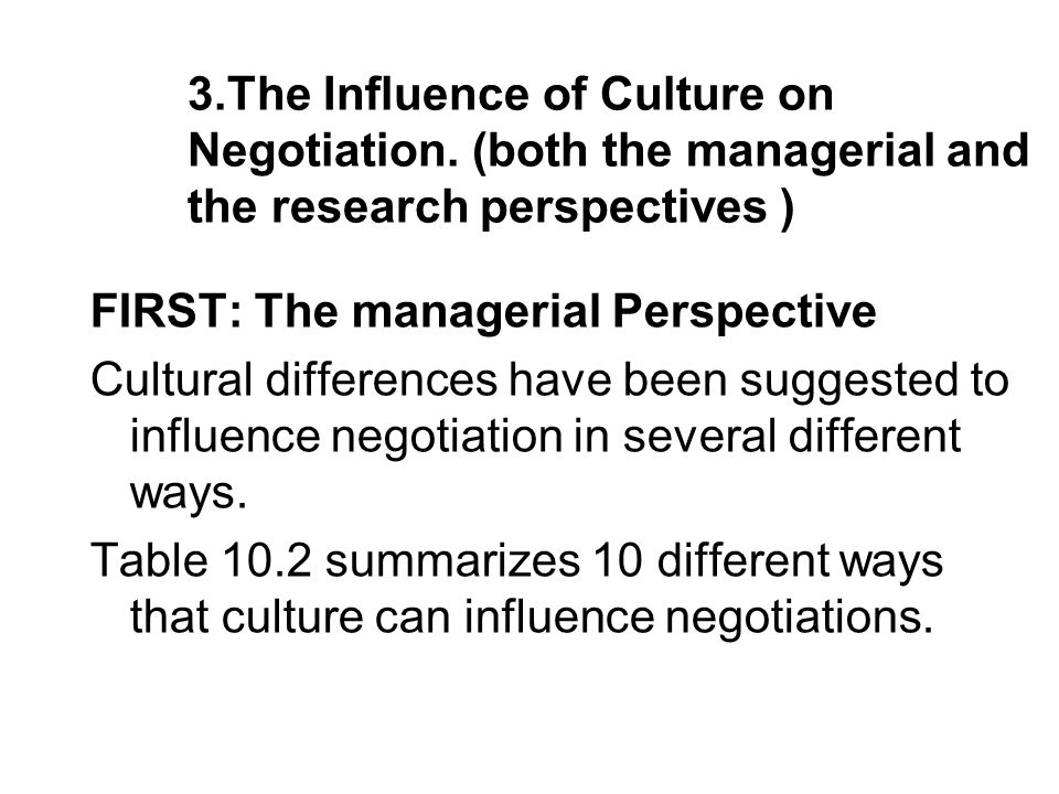 negotiations culture A general overview of negotiations follows the chapter on culture it includes a definition of negotiations and discusses the range or continuum of negotiation styles.