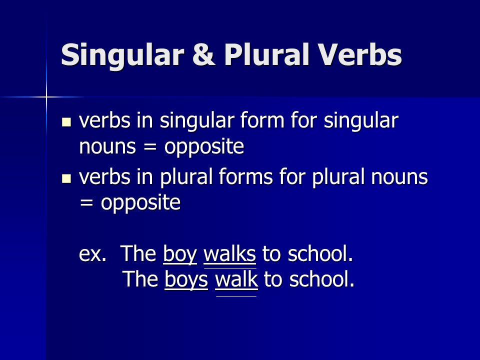 Singular & Plural Verbs
