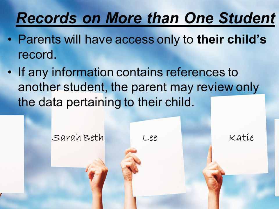 Records on More than One Student