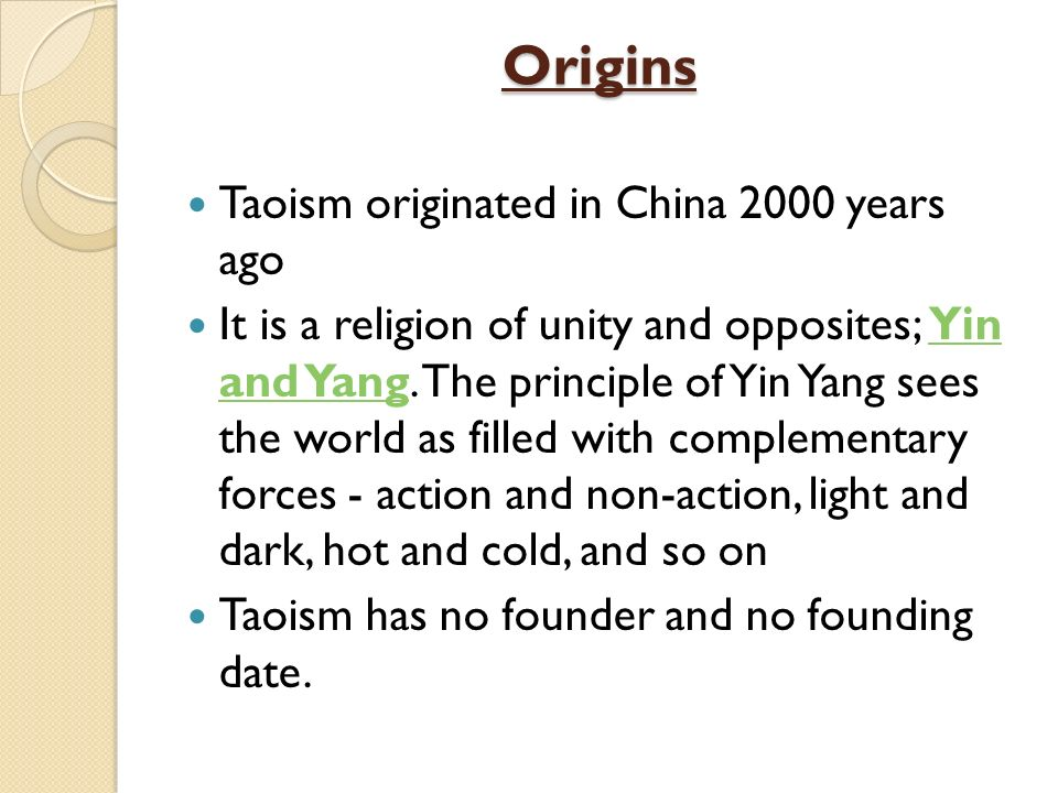 an overview of taoism a philosophical and religious tradition of ancient china Is a philosophical, ethical or religious tradition of  beyond china, taoism also  and time spans that are commonly associated with taoism ancient.