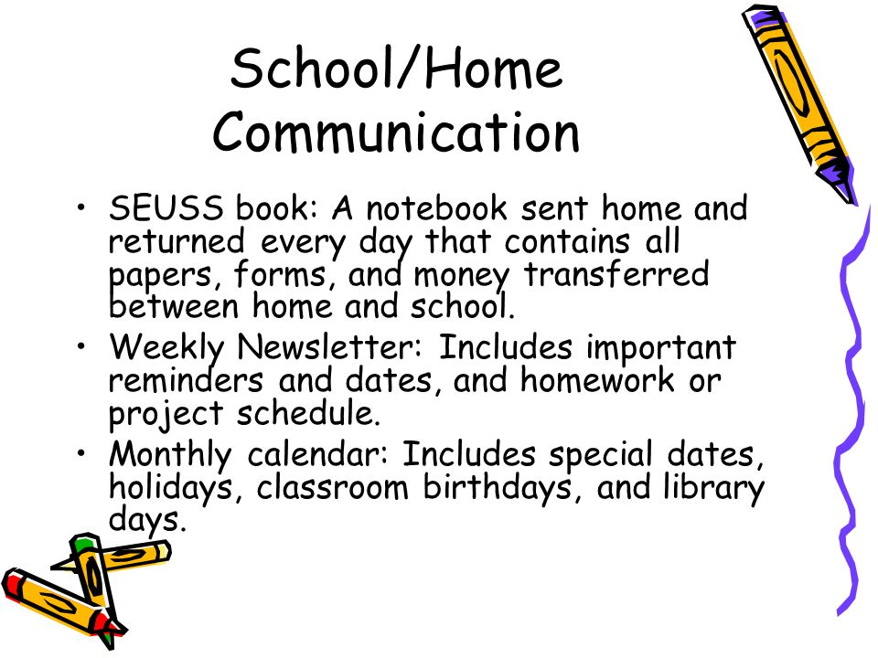 School/Home Communication