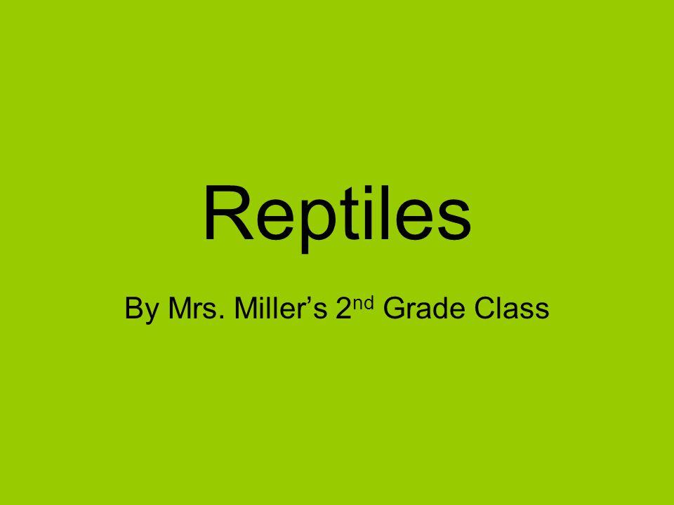 By Mrs. Miller's 2nd Grade Class