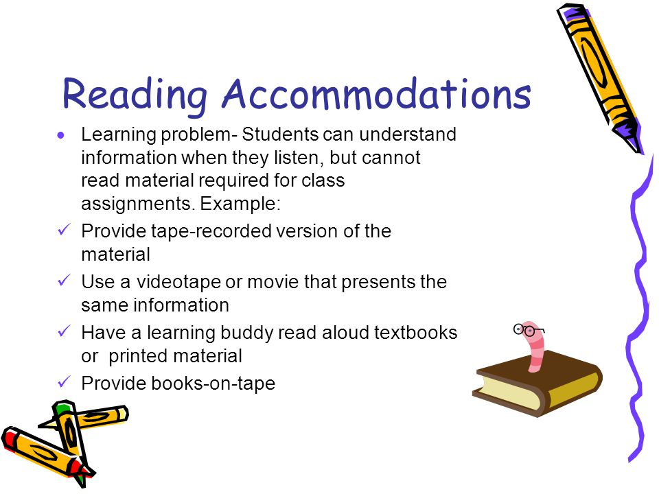 Reading Accommodations