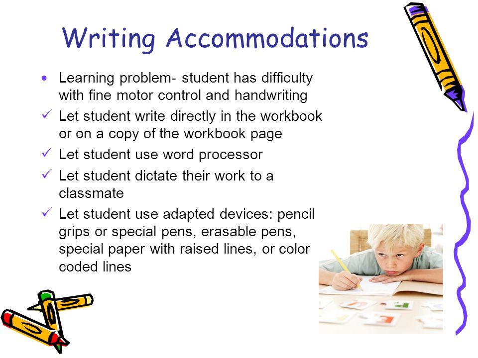 Writing Accommodations