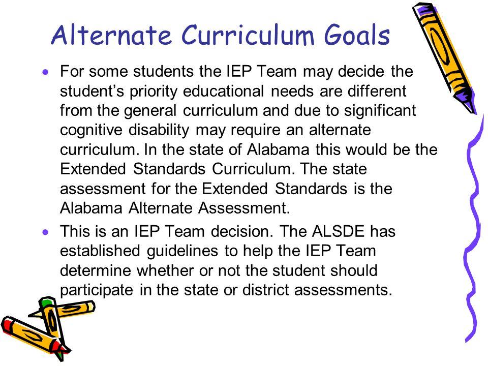Alternate Curriculum Goals