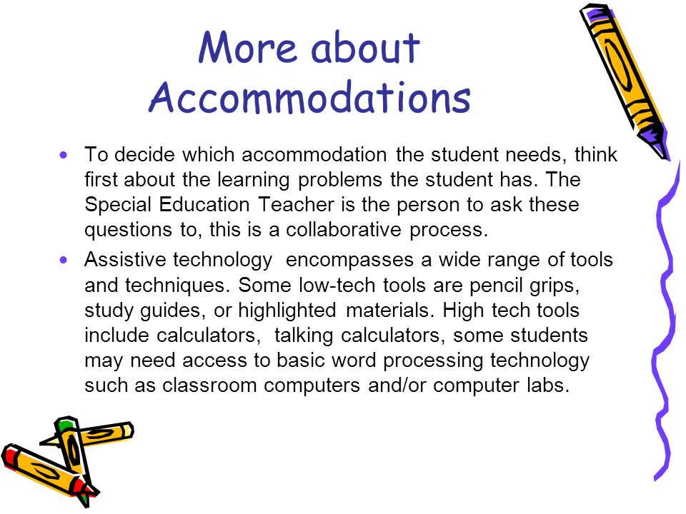 More about Accommodations
