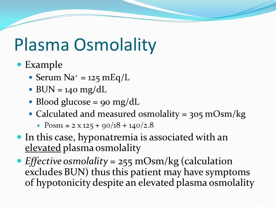 Plasma Osmolality Example