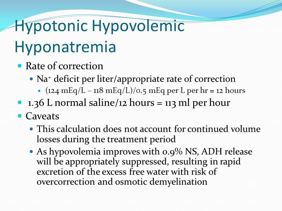 Hypotonic Hypovolemic Hyponatremia