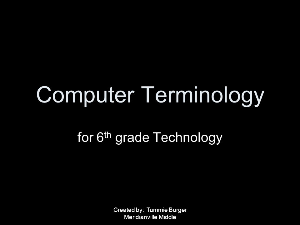 for 6th grade Technology