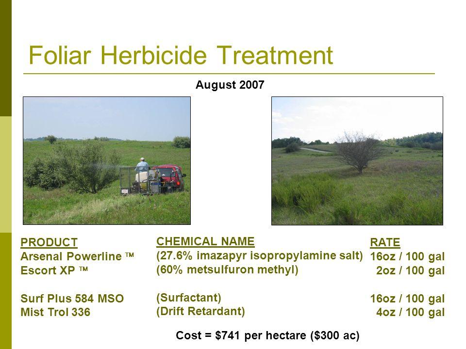 Foliar Herbicide Treatment