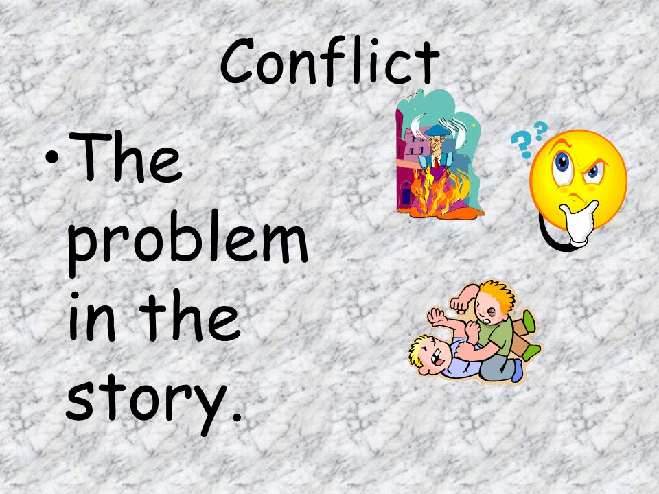 The problem in the story.