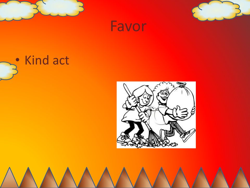 Favor Kind act