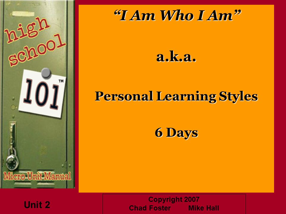 Personal Learning Styles