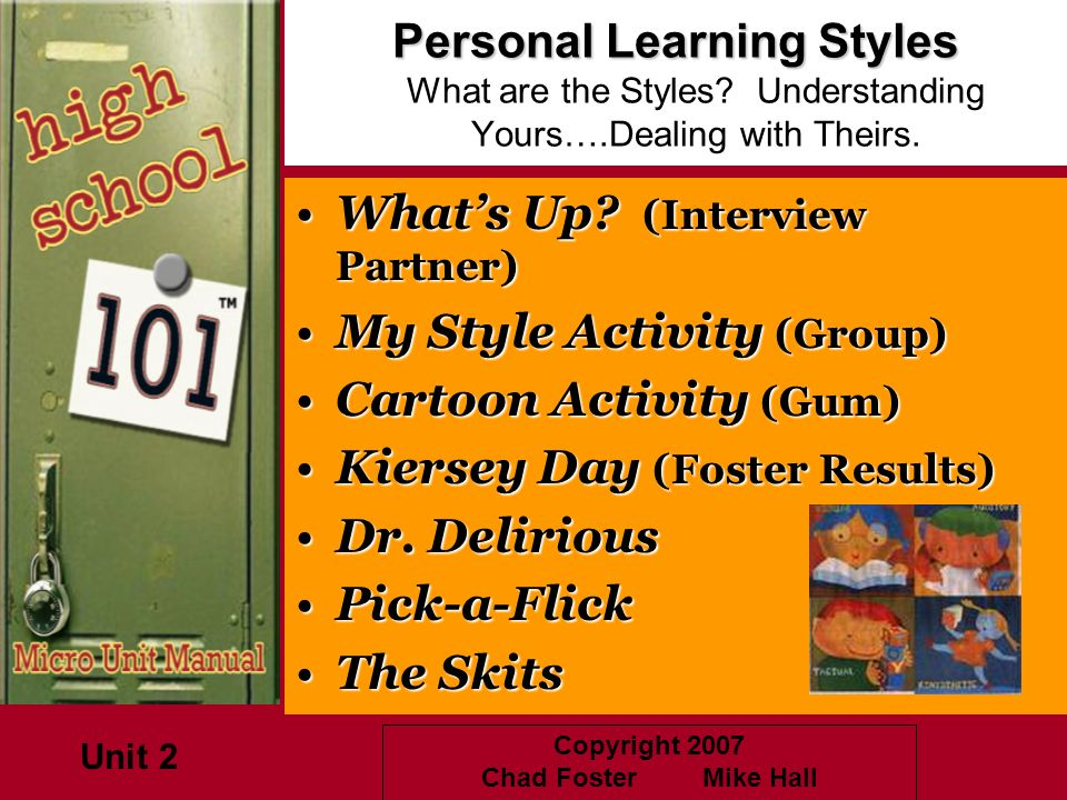 What's Up (Interview Partner) My Style Activity (Group)