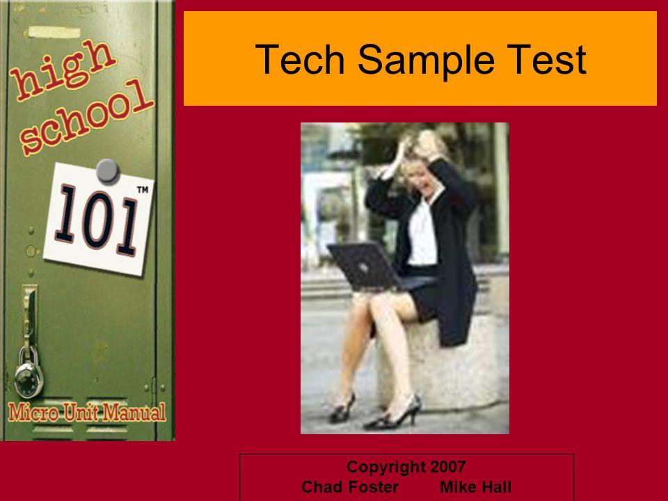 Tech Sample Test