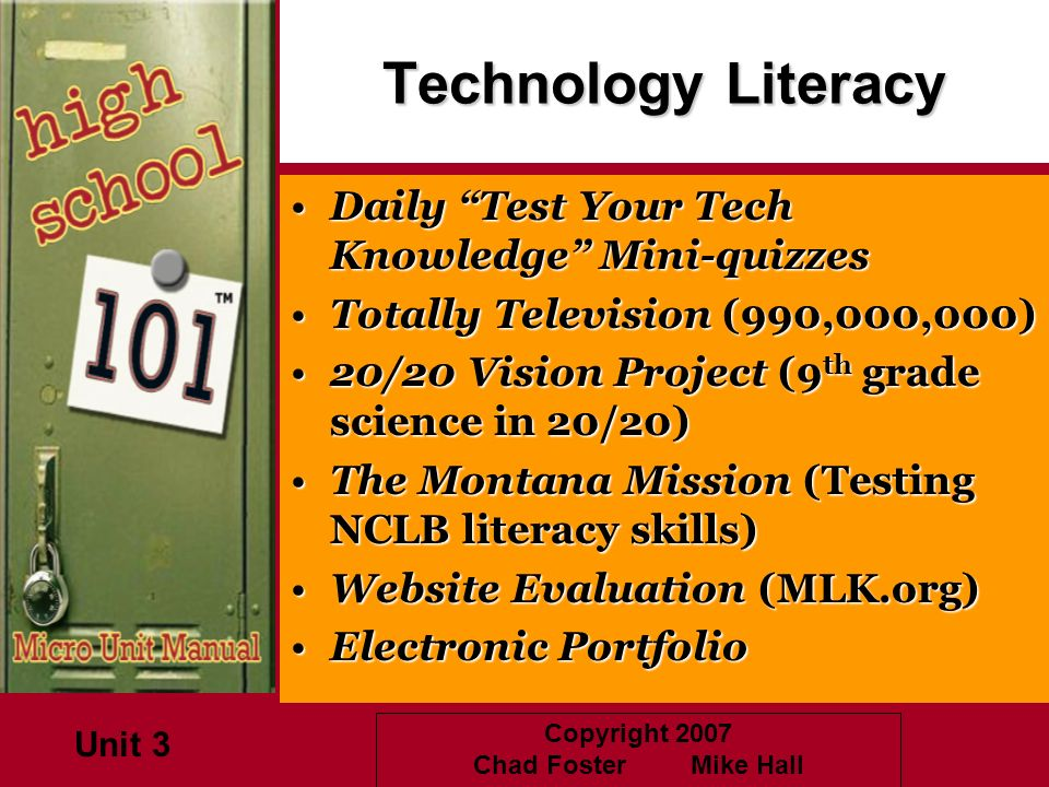 Technology Literacy Daily Test Your Tech Knowledge Mini-quizzes
