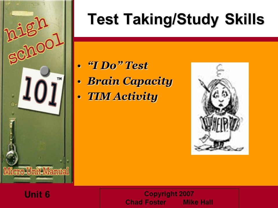 Test Taking/Study Skills