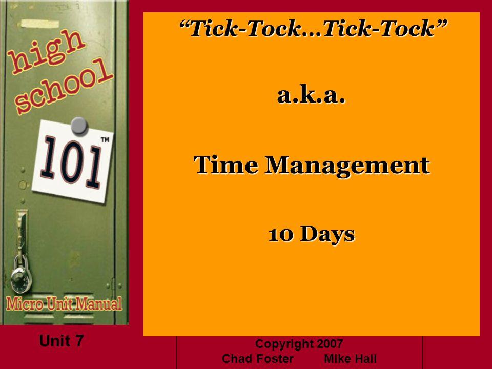 Tick-Tock…Tick-Tock