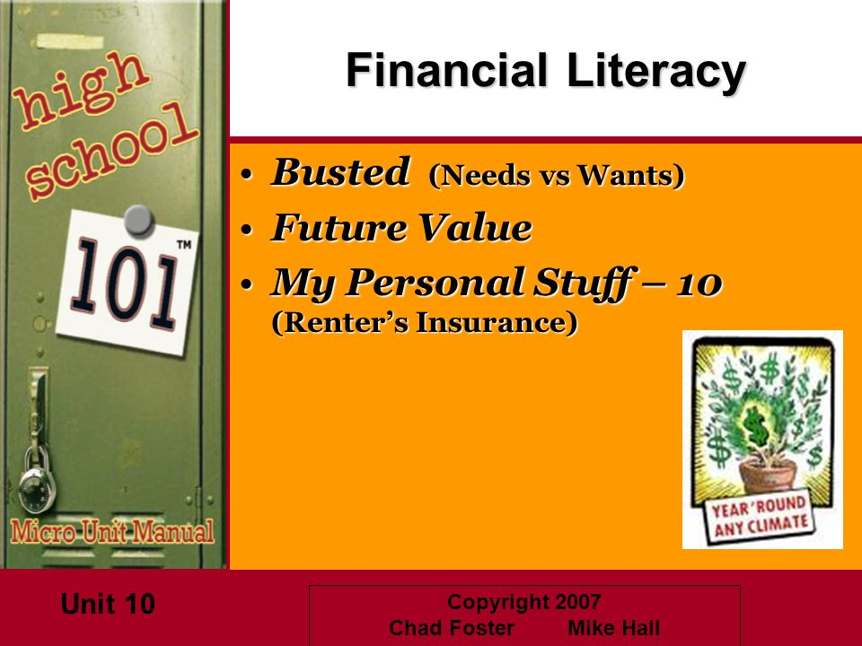 Financial Literacy Busted (Needs vs Wants) Future Value