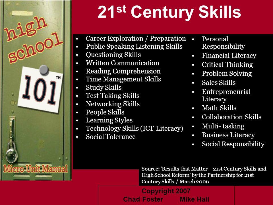 21st Century Skills Career Exploration / Preparation
