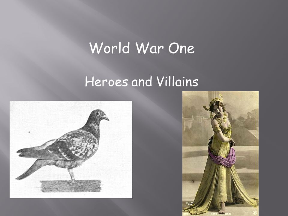 World War One Heroes and Villains