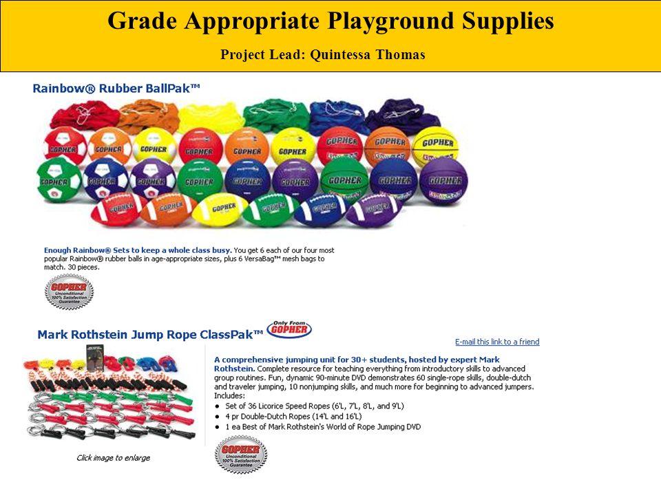 Grade Appropriate Playground Supplies