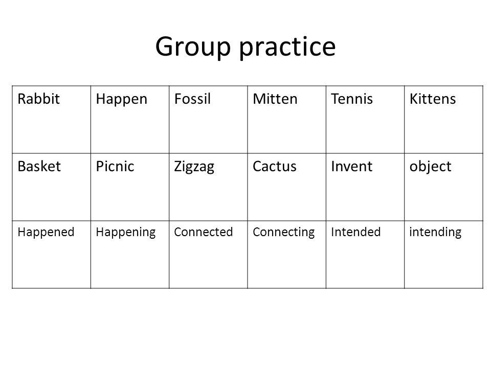 Group practice Rabbit Happen Fossil Mitten Tennis Kittens Basket