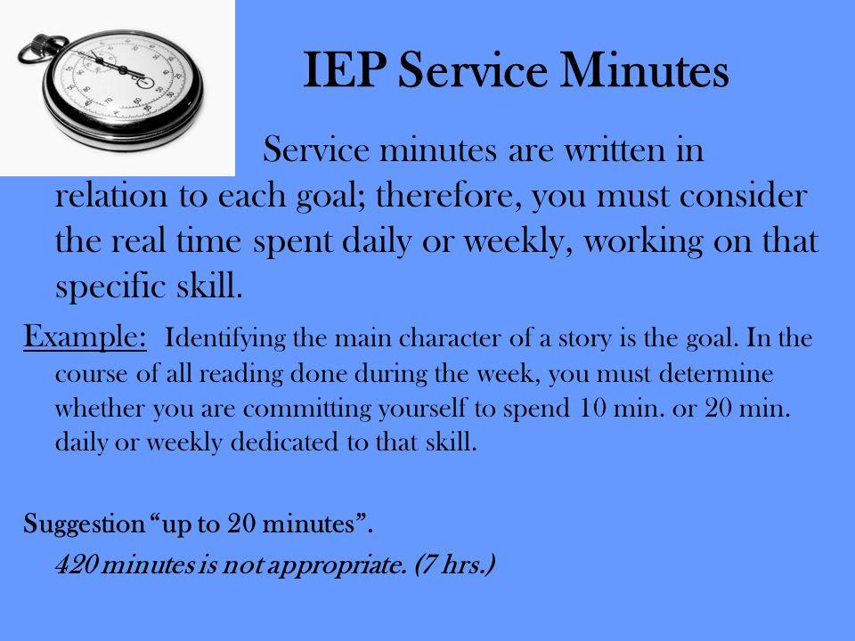 IEP Service Minutes