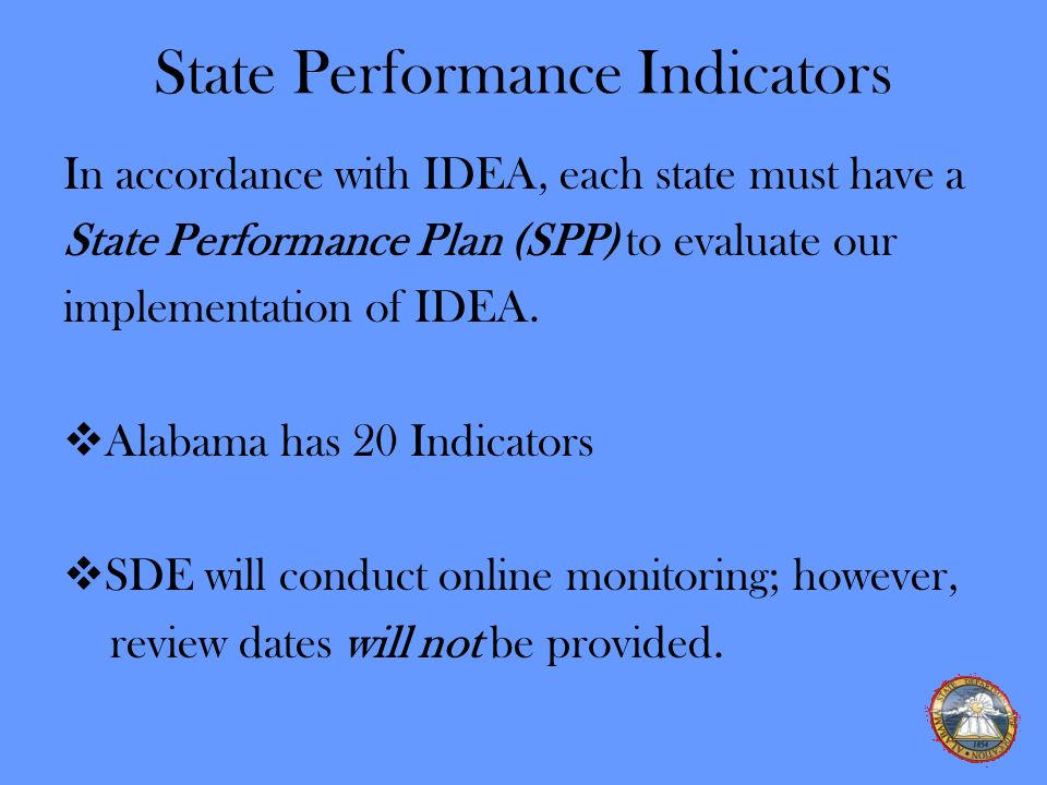 State Performance Indicators
