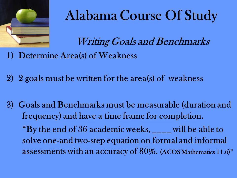 Alabama Course Of Study