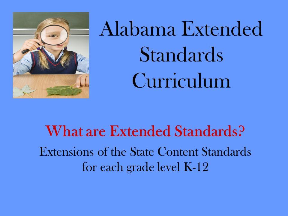 Alabama Extended Standards Curriculum