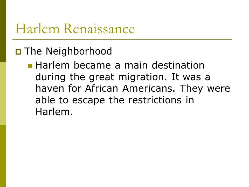 Harlem Renaissance The Neighborhood