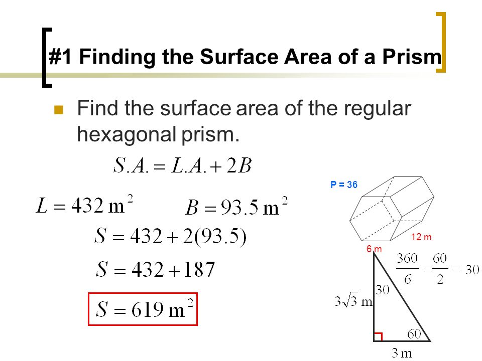#1 Finding the Surface Area of a Prism