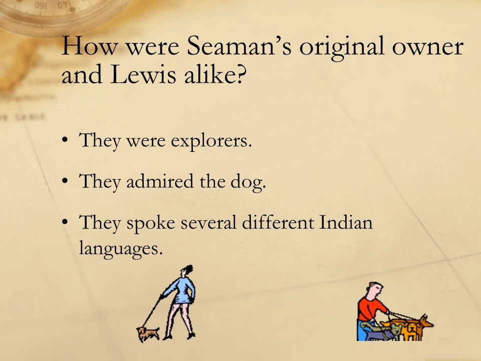 How were Seaman's original owner and Lewis alike