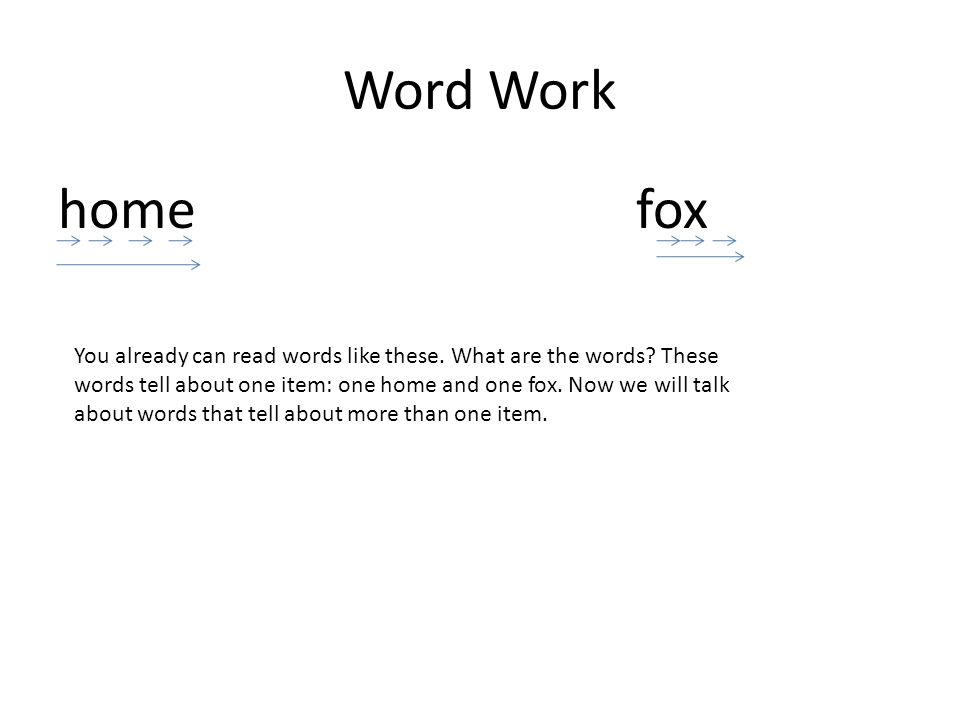 Word Work home fox.