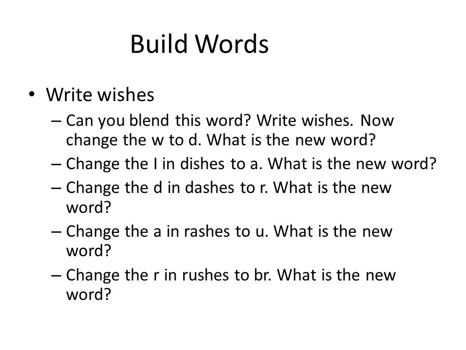 Build Words Write wishes