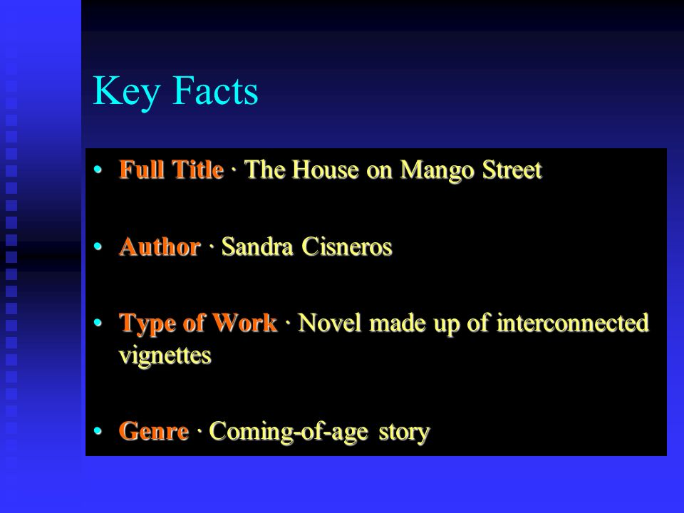 house on mango street coming of age essay This student essay consists of approximately 6 pages of analysis of separate worlds summary: coming of age in mississippi by anne moody and the house on mango street are both novels that can be compared as well as contrasted between the two women (in the novels)considering power, division of .