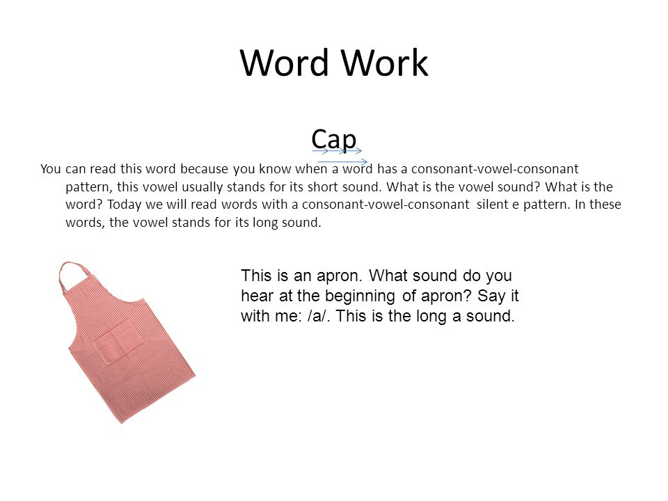 Word Work Cap.