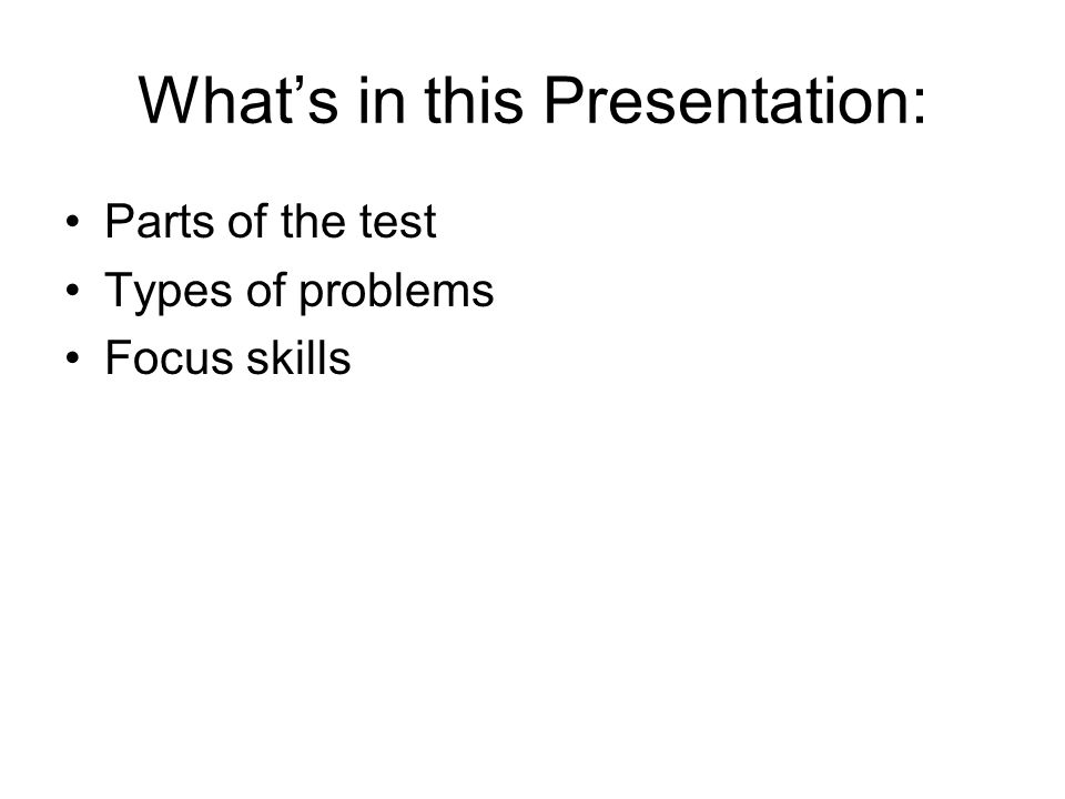 What's in this Presentation: