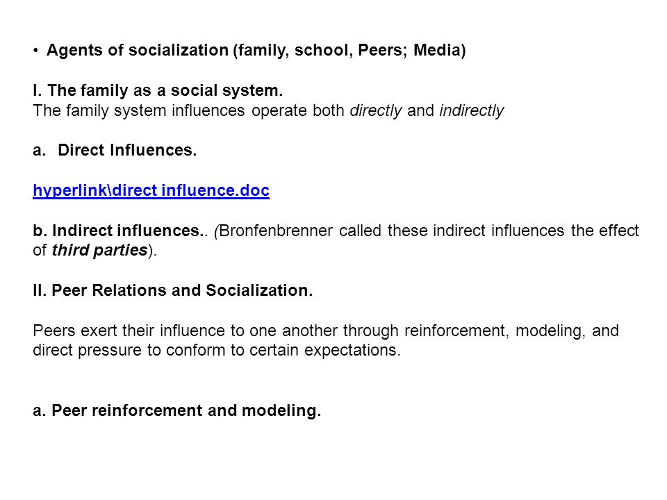 what is an example of socialization