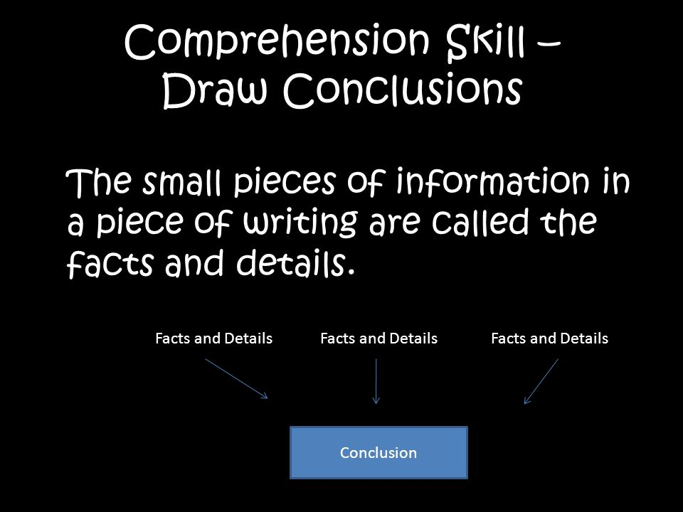 Comprehension Skill – Draw Conclusions