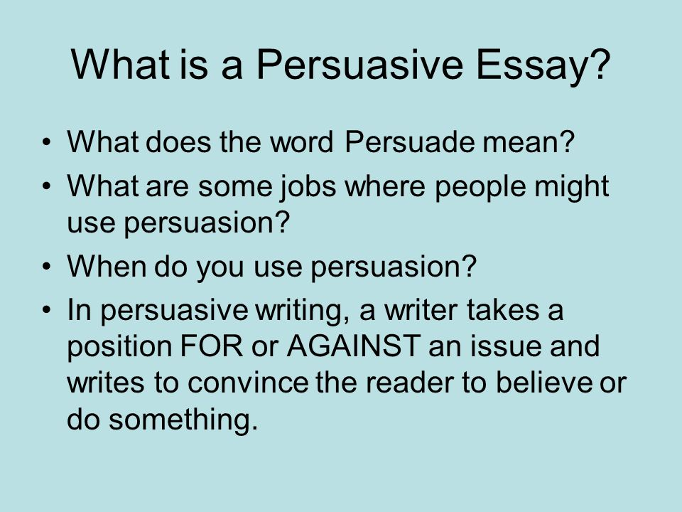 Can i use i in persuasive essay