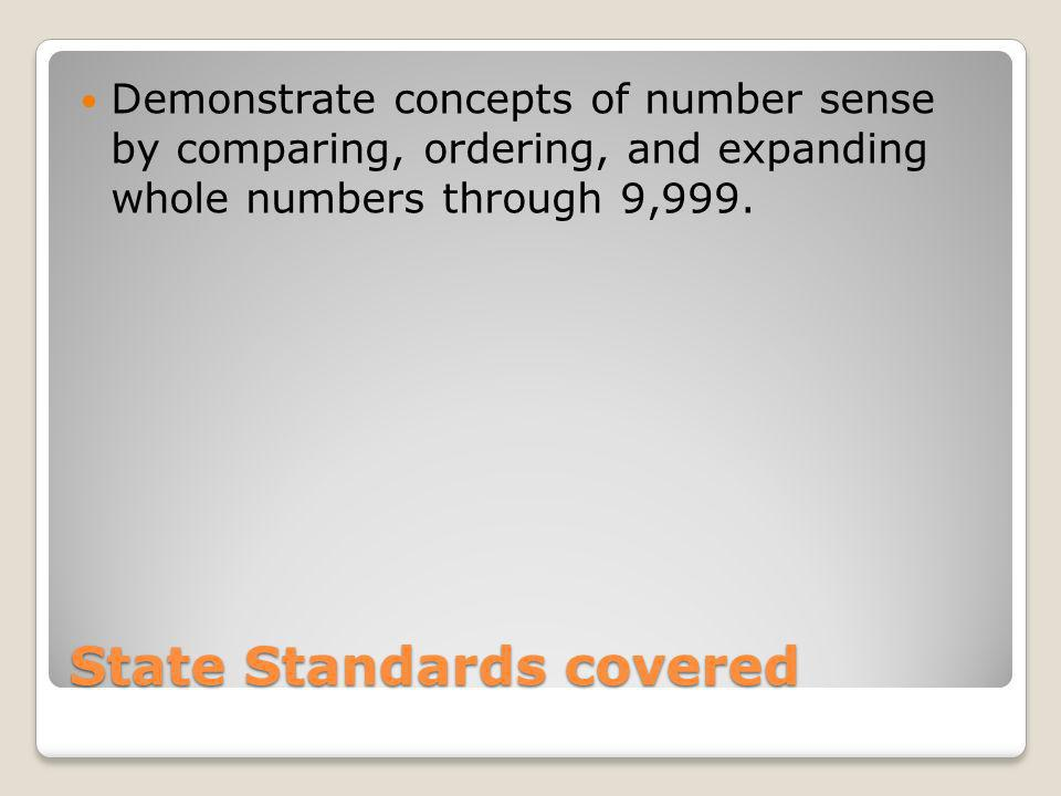 State Standards covered