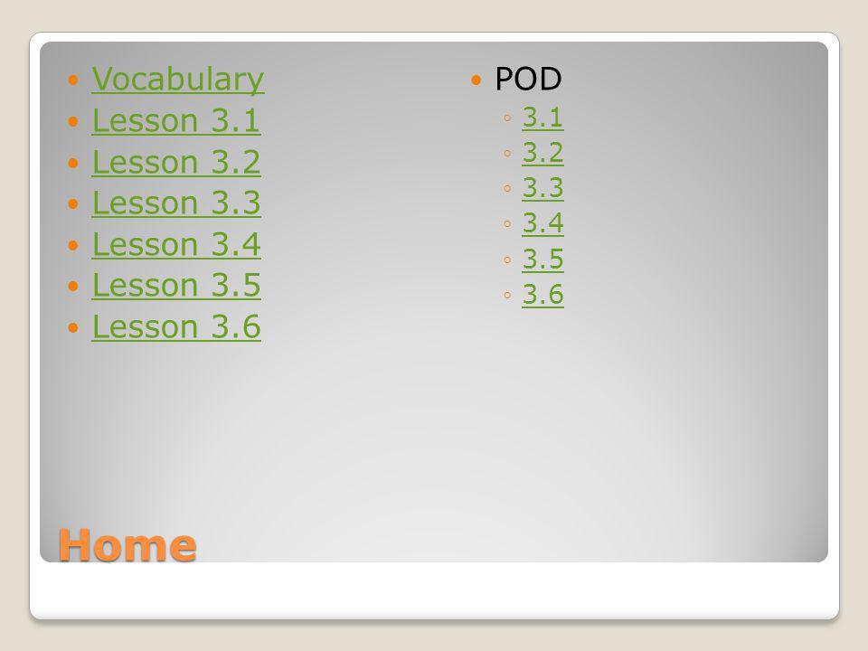 Home Vocabulary Lesson 3.1 Lesson 3.2 Lesson 3.3 Lesson 3.4 Lesson 3.5